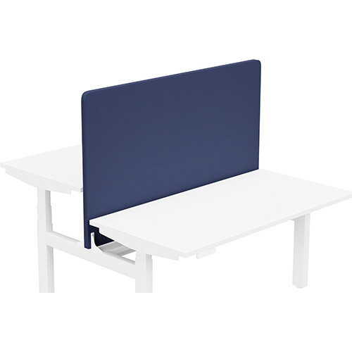 Acoustic Screen For Leap Height Adjustable Bench W1400xH850mm - Camira LUCIA Fabric - Colour Code: YB100-Ocean