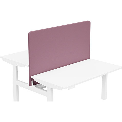 Acoustic Screen For Leap Height Adjustable Bench W1400xH850mm - Camira LUCIA Fabric - Colour Code: YB102-Bridgetown