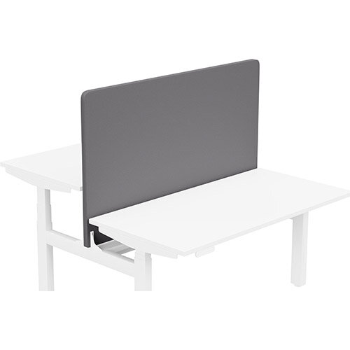 Acoustic Screen For Leap Height Adjustable Bench W1400xH850mm - Camira LUCIA Fabric - Colour Code: YB108-Blizzard