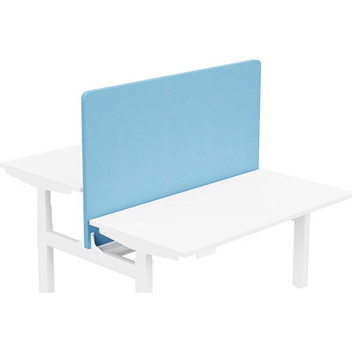 Acoustic Screen For Leap Height Adjustable Bench W1400xH850mm - Camira LUCIA Fabric - Colour Code: YB157-Marianna