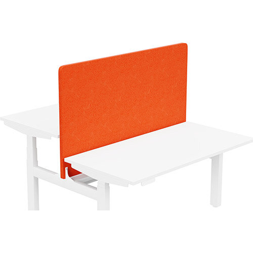 Acoustic Screen For Leap Height Adjustable Bench W1400xH850mm - Camira LUCIA Fabric - Colour Code: YB168-Tortuga