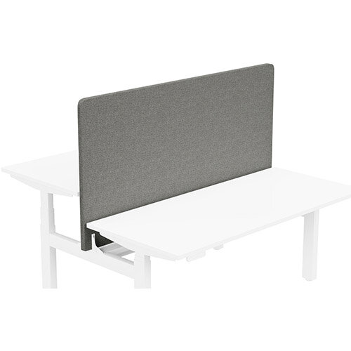Acoustic Screen For Leap Height Adjustable Bench W1600xH850mm - Camira CARA Fabric - Colour Code: EJ016-Portland