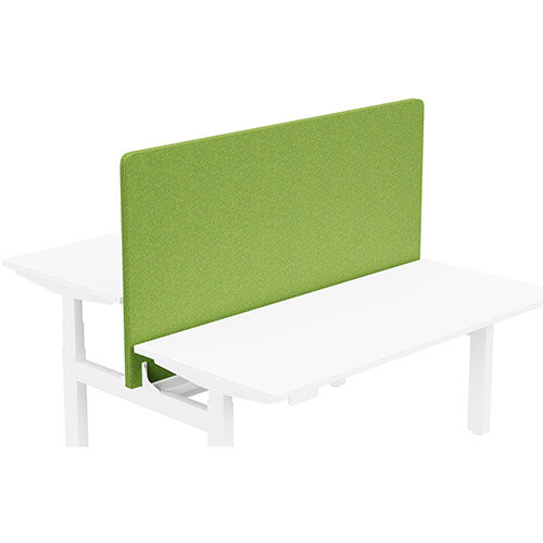 Acoustic Screen For Leap Height Adjustable Bench W1600xH850mm - Camira BLAZER LITE Fabric - Colour Code: LTH55-Happy