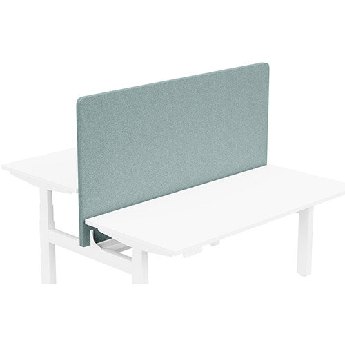 Acoustic Screen For Leap Height Adjustable Bench W1600xH850mm - Camira BLAZER LITE Fabric - Colour Code: LTH63-Harmony