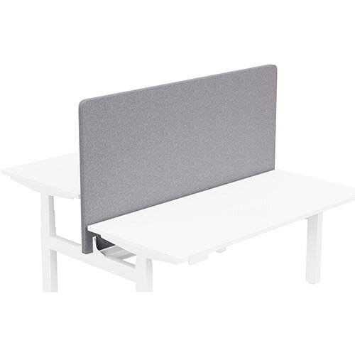 Acoustic Screen For Leap Height Adjustable Bench W1600xH850mm - Camira BLAZER LITE Fabric - Colour Code: LTH65-Pastel