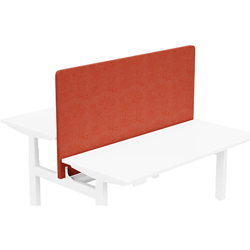 Acoustic Screen For Leap Height Adjustable Bench W1600xH850mm - Camira LUCIA Fabric - Colour Code: YB087-Lobster