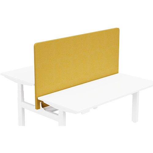 Acoustic Screen For Leap Height Adjustable Bench W1600xH850mm - Camira LUCIA Fabric - Colour Code: YB088-Solano