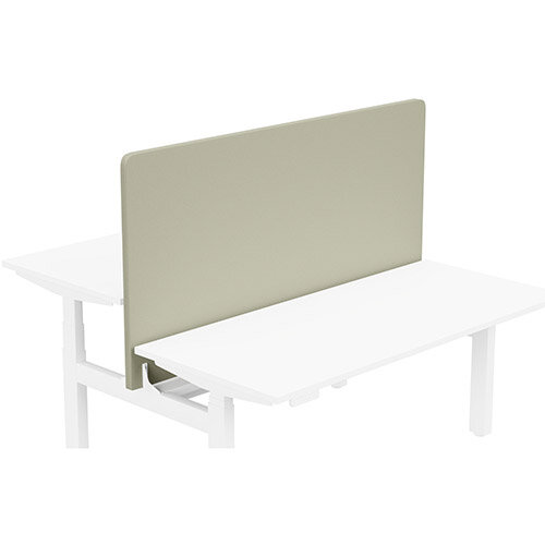Acoustic Screen For Leap Height Adjustable Bench W1600xH850mm - Camira LUCIA Fabric - Colour Code: YB093-Aruba