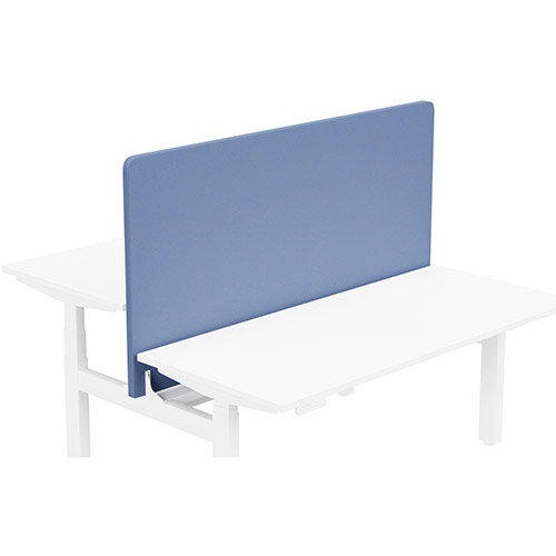 Acoustic Screen For Leap Height Adjustable Bench W1600xH850mm - Camira LUCIA Fabric - Colour Code: YB097-Bluebell