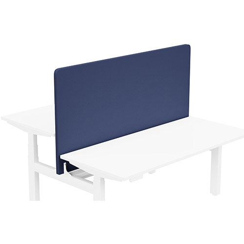 Acoustic Screen For Leap Height Adjustable Bench W1600xH850mm - Camira LUCIA Fabric - Colour Code: YB100-Ocean
