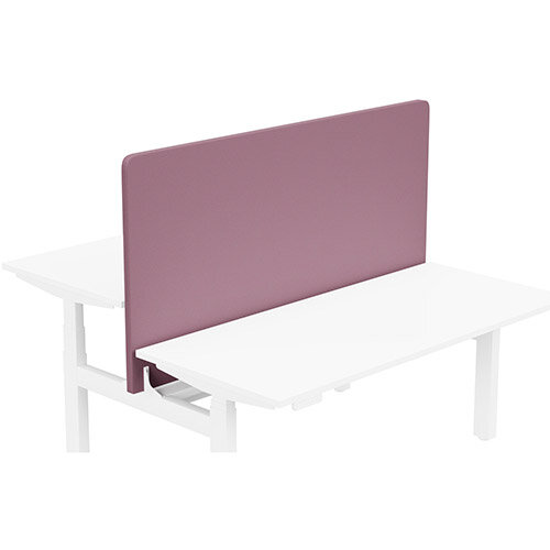 Acoustic Screen For Leap Height Adjustable Bench W1600xH850mm - Camira LUCIA Fabric - Colour Code: YB102-Bridgetown