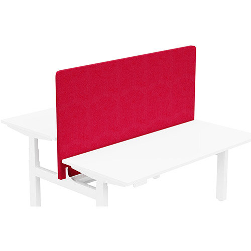 Acoustic Screen For Leap Height Adjustable Bench W1600xH850mm - Camira LUCIA Fabric - Colour Code: YB105-Belize