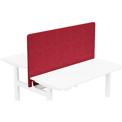 Acoustic Screen For Leap Height Adjustable Bench W1600xH850mm - Camira LUCIA Fabric - Colour Code: YB106-Calypso