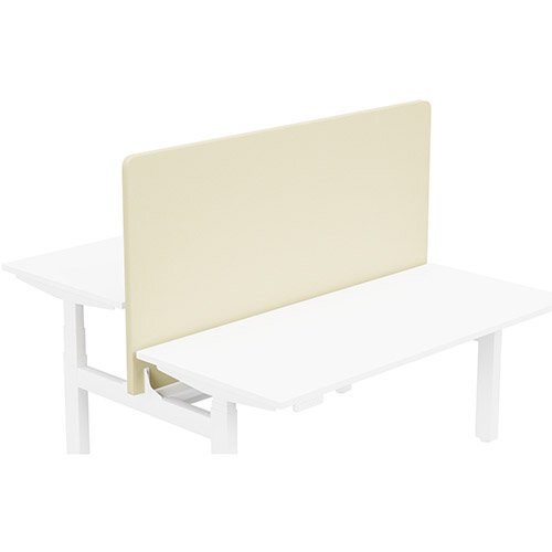 Acoustic Screen For Leap Height Adjustable Bench W1600xH850mm - Camira LUCIA Fabric - Colour Code: YB107-Oyster