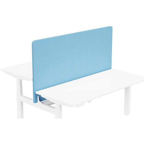 Acoustic Screen For Leap Height Adjustable Bench W1600xH850mm - Camira LUCIA Fabric - Colour Code: YB157-Marianna