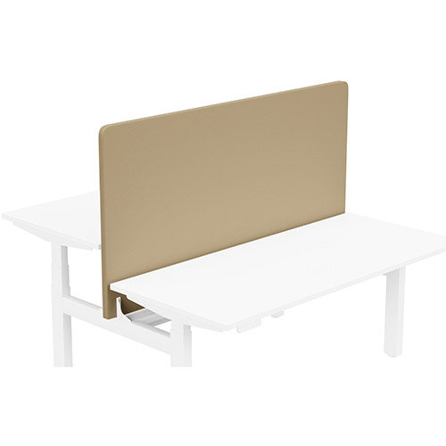Acoustic Screen For Leap Height Adjustable Bench W1600xH850mm - Camira LUCIA Fabric - Colour Code: YB302-Sandstorm