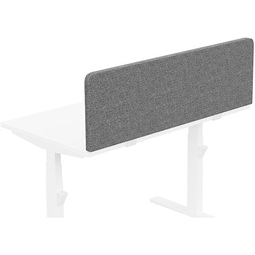 Acoustic Screen For Leap &Zoom Height Adjustable Desks W1200xH380mm - Camira CARA Fabric - Colour Code: EJ104-Lead