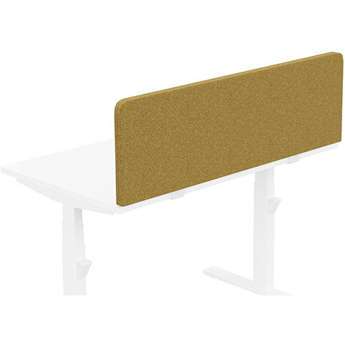 Acoustic Screen For Leap & Zoom Height Adjustable Desks W1200xH380mm - Camira BLAZER LITE Fabric - Colour Code: LTH56-Buddah
