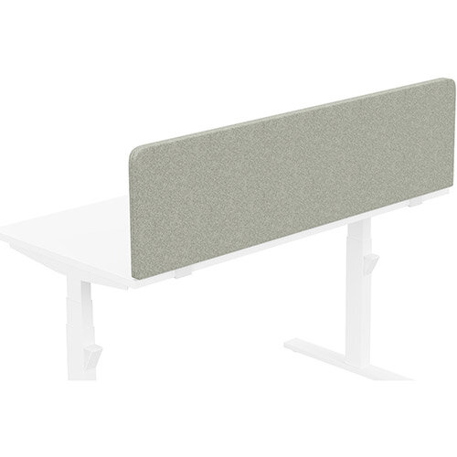 Acoustic Screen For Leap &Zoom Height Adjustable Desks W1400xH380mm - Camira BLAZER LITE Fabric - Colour Code: LTH39-Retreat