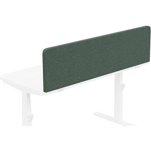 Acoustic Screen For Leap &Zoom Height Adjustable Desks W1400xH380mm - Camira BLAZER LITE Fabric - Colour Code: LTH42-Hush