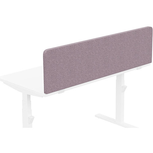 Acoustic Screen For Leap &Zoom Height Adjustable Desks W1400xH380mm - Camira BLAZER LITE Fabric - Colour Code: LTH47-Love