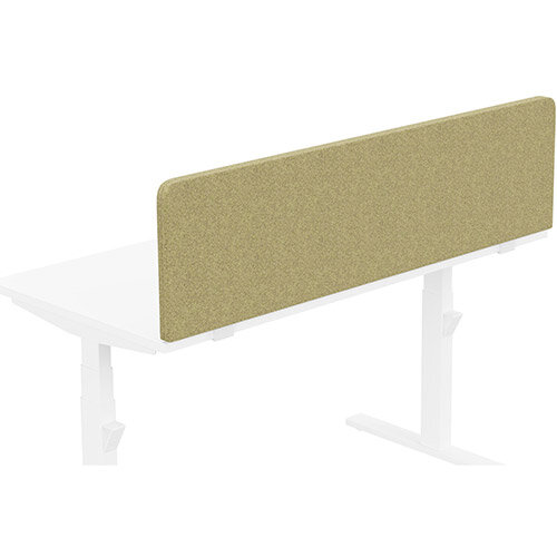 Acoustic Screen For Leap &Zoom Height Adjustable Desks W1400xH380mm - Camira BLAZER LITE Fabric - Colour Code: LTH48-Bliss