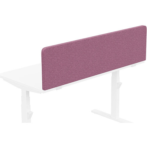 Acoustic Screen For Leap &Zoom Height Adjustable Desks W1400xH380mm - Camira BLAZER LITE Fabric - Colour Code: LTH49-Angel