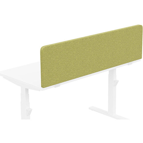 Acoustic Screen For Leap &Zoom Height Adjustable Desks W1400xH380mm - Camira BLAZER LITE Fabric - Colour Code: LTH50-Hope