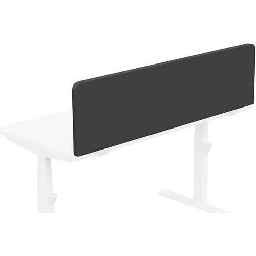 Acoustic Screen For Leap &Zoom Height Adjustable Desks W1400xH380mm - Camira LUCIA Fabric - Colour Code: YB009-Havana