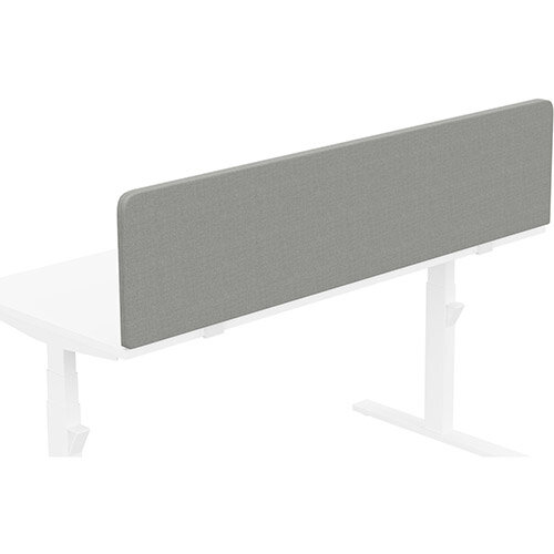 Acoustic Screen For Leap &Zoom Height Adjustable Desks W1600xH380mm - Camira CARA Fabric - Colour Code: EJ033-Spray