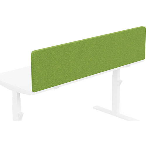 Acoustic Screen For Leap &Zoom Height Adjustable Desks W1600xH380mm - Camira BLAZER LITE Fabric - Colour Code: LTH55-Happy