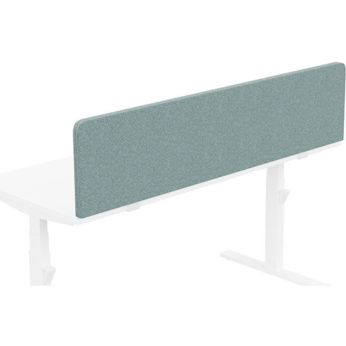 Acoustic Screen For Leap &Zoom Height Adjustable Desks W1600xH380mm - Camira BLAZER LITE Fabric - Colour Code: LTH63-Harmony