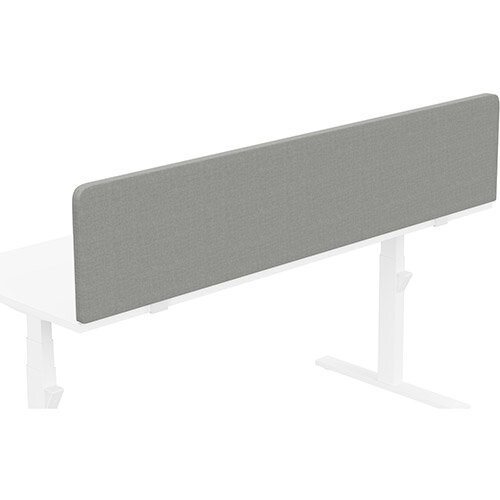 Acoustic Screen For Leap &Zoom Height Adjustable Desks W1800xH380mm - Camira CARA Fabric - Colour Code: EJ033-Spray