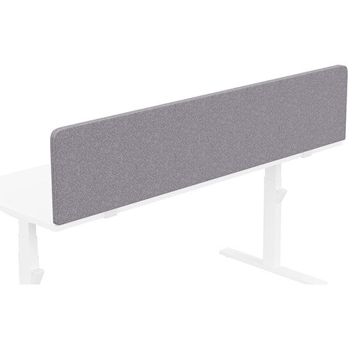 Acoustic Screen For Leap &Zoom Height Adjustable Desks W1800xH380mm - Camira BLAZER LITE Fabric - Colour Code: LTH65-Pastel