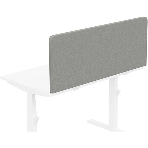 Acoustic Screen For Leap &Zoom Height Adjustable Desks W1200xH480mm - Camira CARA Fabric - Colour Code: EJ033-Spray