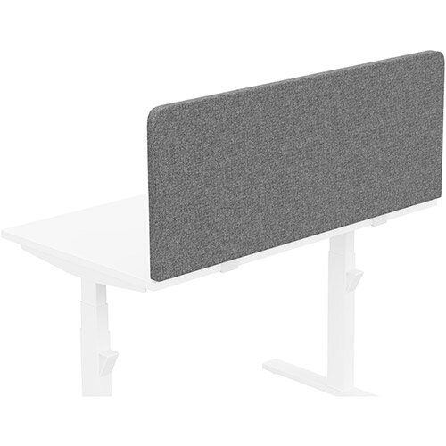 Acoustic Screen For Leap &Zoom Height Adjustable Desks W1200xH480mm - Camira CARA Fabric - Colour Code: EJ104-Lead