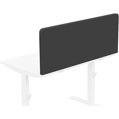 Acoustic Screen For Leap &Zoom Height Adjustable Desks W1200xH480mm - Camira LUCIA Fabric - Colour Code: YB009-Havana