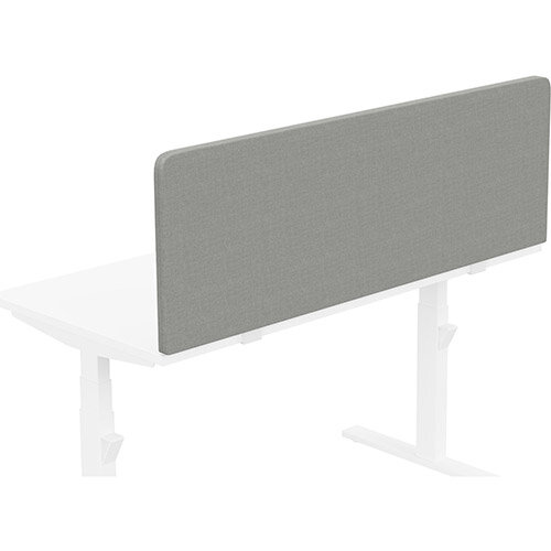 Acoustic Screen For Leap &Zoom Height Adjustable Desks W1400xH480mm - Camira CARA Fabric - Colour Code: EJ033-Spray