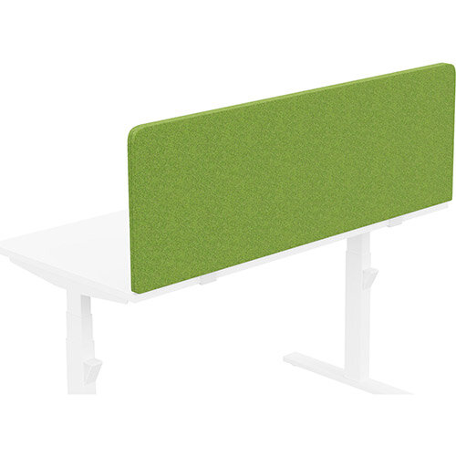 Acoustic Screen For Leap &Zoom Height Adjustable Desks W1400xH480mm - Camira BLAZER LITE Fabric - Colour Code: LTH55-Happy