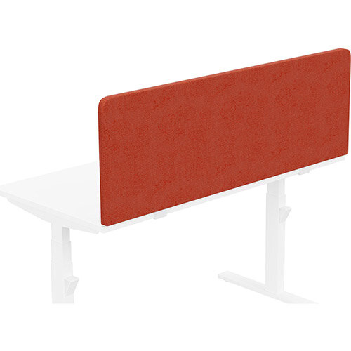Acoustic Screen For Leap &Zoom Height Adjustable Desks W1400xH480mm - Camira LUCIA Fabric - Colour Code: YB087-Lobster