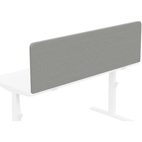 Acoustic Screen For Leap &Zoom Height Adjustable Desks W1600xH480mm - Camira CARA Fabric - Colour Code: EJ033-Spray