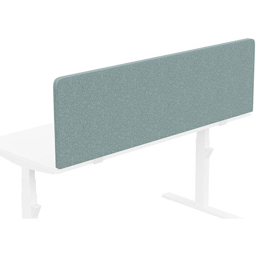 Acoustic Screen For Leap &Zoom Height Adjustable Desks W1600xH480mm - Camira BLAZER LITE Fabric - Colour Code: LTH63-Harmony