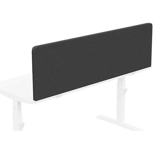 Acoustic Screen For Leap &Zoom Height Adjustable Desks W1600xH480mm - Camira LUCIA Fabric - Colour Code: YB009-Havana