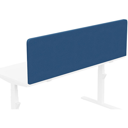 Acoustic Screen For Leap &Zoom Height Adjustable Desks W1600xH480mm - Camira LUCIA Fabric - Colour Code: YB089-Scuba