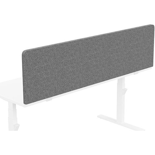 Acoustic Screen For Leap &Zoom Height Adjustable Desks W1800xH480mm - Camira CARA Fabric - Colour Code: EJ104-Lead
