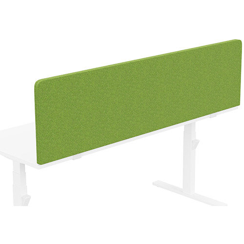 Acoustic Screen For Leap &Zoom Height Adjustable Desks W1800xH480mm - Camira BLAZER LITE Fabric - Colour Code: LTH55-Happy