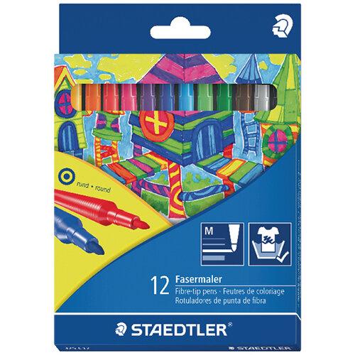 Staedtler Noris Fibre Tip Pens Assorted Colours Pack of 120 325 C12