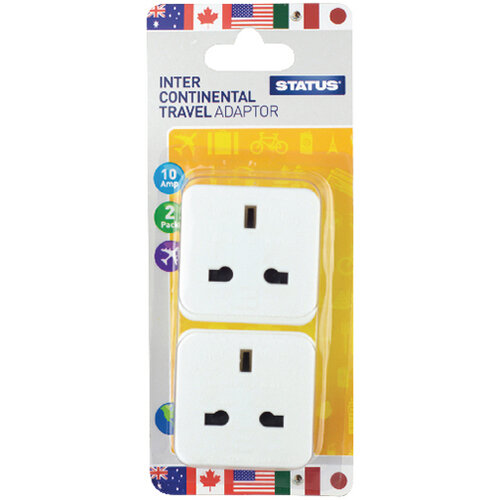 Status Intercontinental Travel Adaptor Pack of 8 SINTERAD2Pk4