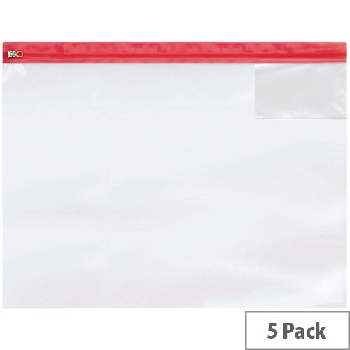 Heavy Duty Zip Bag A3 Pack of 5 4713