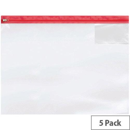 Heavy Duty Zip Bag A3 Pack of 5 4713